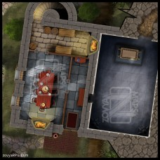Hidden Temple [D] No Skylight +Grid