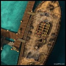 The Galleon [D] At Dock +Grid